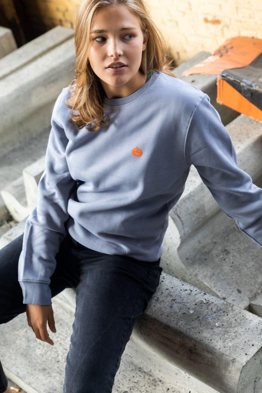 STRØM - Sweater Lava Grey - Pumpkin