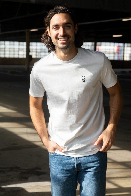 STRØM - T-shirt Cream White - Scream
